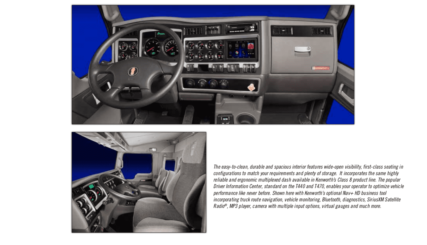 Kenworth T440 Interior